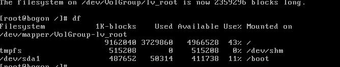 在VMware的CentOS虚拟机里扩展磁盘空间